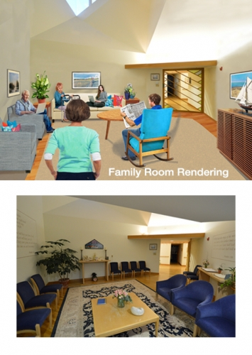 Architectural Graphics – Family Room Rendering