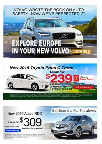 Volvo of Wellesley - Expressway Toyota - Acura of Boston Banner Ads